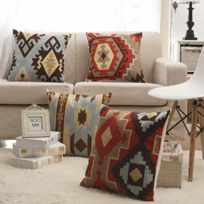 Bohemian Embroidered Pillow Case (P3)